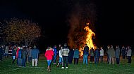 WW1 commemoration bonfire 2018