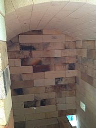 Inside the large kiln - no shelves