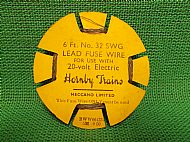 HORNBY TRAINS FUSE WIRE On CARD, Circa 1950