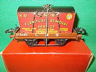 HORNBY L.M.S. FLAT TRUCK with CONTAINER, Circa 1953.