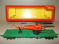 TRIANG RAILWAYS R.128 OPERATING HELICOPTER CAR, BATTLE SPACE.