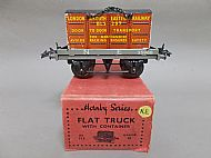 HORNBY SERIES N.E. FLAT TRUCK with CONTAINER, Circa 1938.