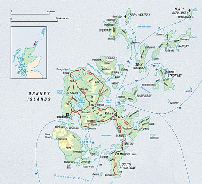 a map of orkney