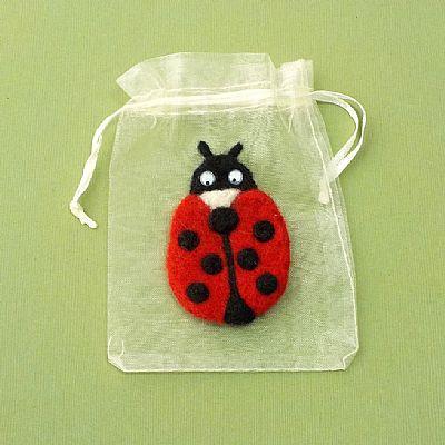 ladybird fridge magnet in gift bag