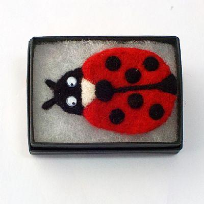 ladybird fridge magnet in gift box