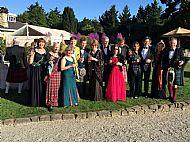 Group before the Ball, Larnach Castle, Dunedin