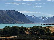 Lake Tekapo, one of many blue lakes.
