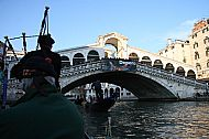 At the Ponte Rialto, by gondola to the Ball