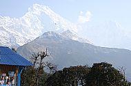 Annapurna South (Left) and Hiun Chuli from Tadapani