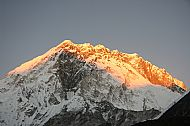 Sunset on Nuptse