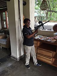 Anery with Paintball gun on monkey patrol
