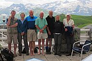 At Superbagneres with fellow walkers (last day)