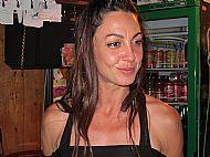 Our hostess at Chalet De L'Albere, Col De L'Ouillat