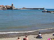 Swimming in the Mediterranean at Collioure