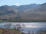 Silvery reflection on Loch Lomond
