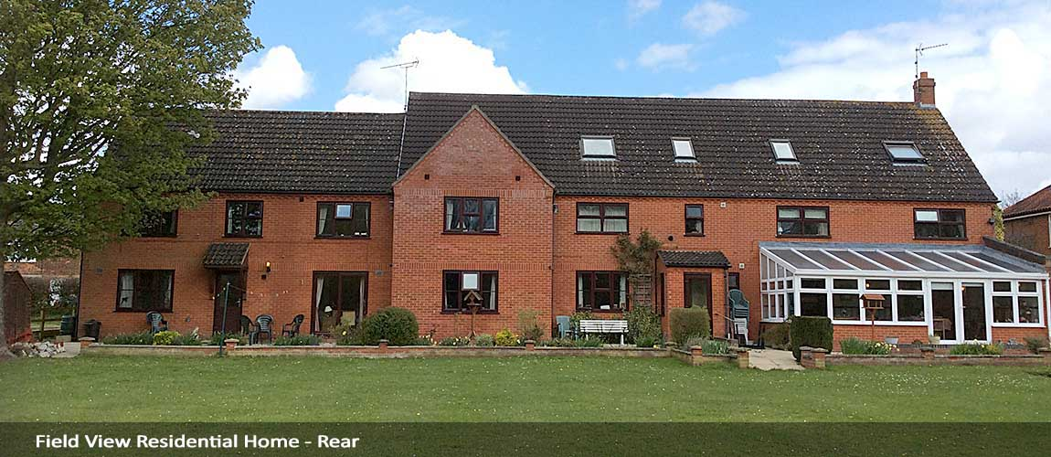 field view residential care home at fakenham - rear view