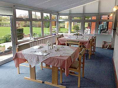 the dining area at field view  residential care home