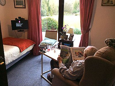 relaxing  at field view  residential care home