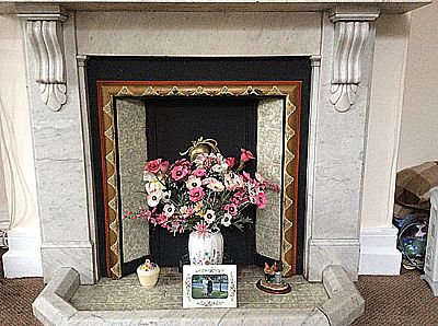 a fire surround at scarborough house  residential care home