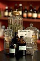 herbal medicine bottles