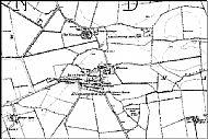 Map of Dinnington in 1864