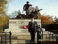 Thomas McLeish at Kelvingrove memorial.