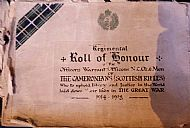 Roll of Honour Glasgow Cathedral.