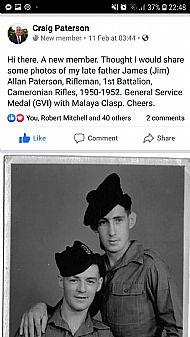 Malaya Jim Paterson.