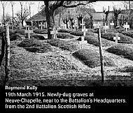 Neuve Chappelle 1915 Cameronian Graves.
