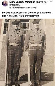 Hugh Docherty Rab Anderson.