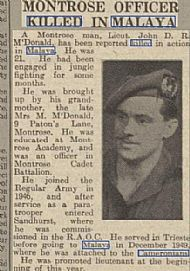 Lt McDonald Malaya.
