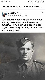 Rifleman Norman Stockley.