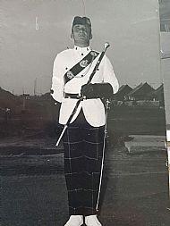 Drum Major Maxi McDonald, Aden.