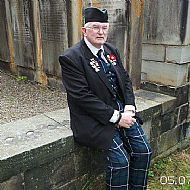 Jim Poulton at Greyriars service 2013.