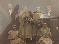 Wedding of William and Annie Sutherland.