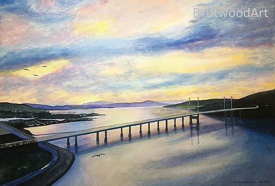 kessock bridge at sunset