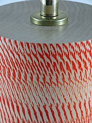 Detail of red textured lamp
