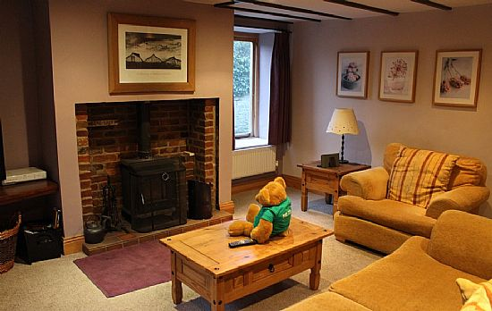 me in the holiday cottage