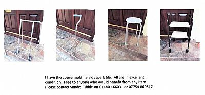 photos of mobility aids on offer
