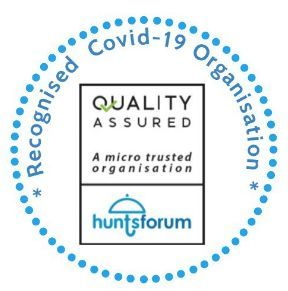 hunts forum covid 19 support logo
