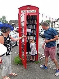 H&W Phone Box Library Opening