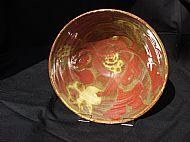 Stoneware bowl with interior design