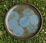 Large platter with pale blue circles
