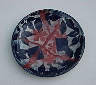 Shallow bowl with complex design