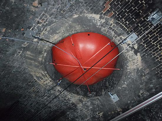 balloon at base of ventilation shaft