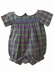 Smocked Romper Suit