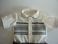 Boys smocked shirt