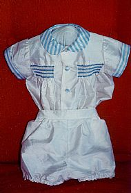 Boy's silk romper suit