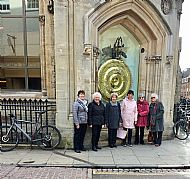 In front of the Corpus Christi Clock