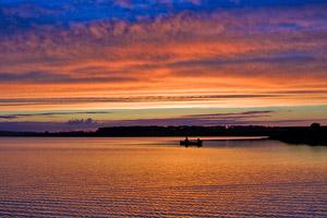 loch watten sunset